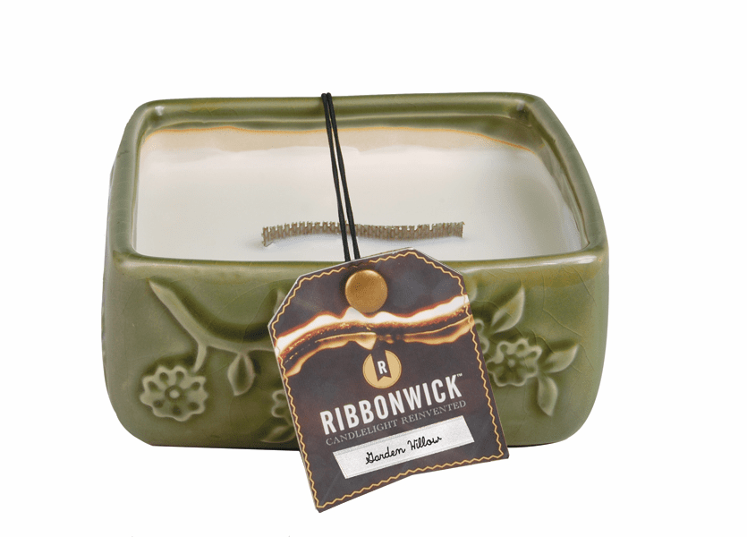 _DISCONTINUED - Garden Willow - Medium Square RibbonWick Candle