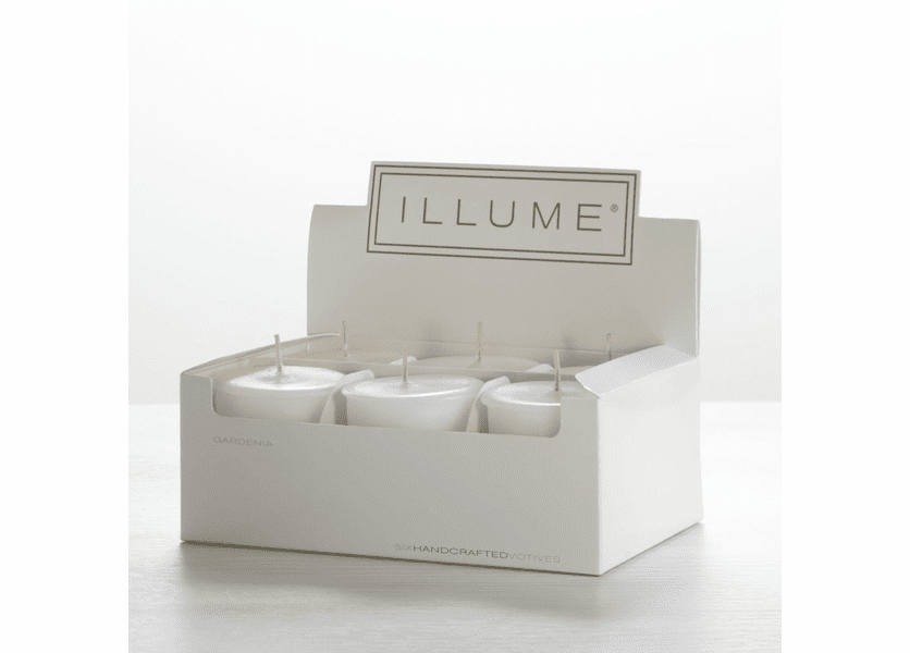 _DISCONTINUED - Gardenia 6-Pack Votive Illume Candle