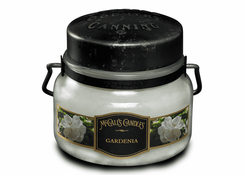 _DISCONTINUED - Gardenia 8 oz. McCall's Double Wick Classic Jar Candle