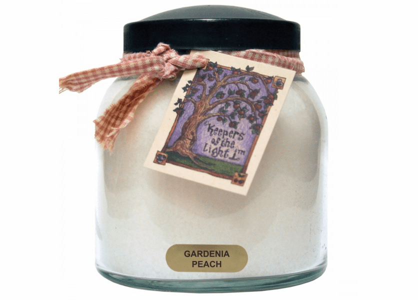 _DISCONTINUED - Gardenia Peach 34 oz. Papa Jar Keepers of the Light Candle by A Cheerful Giver