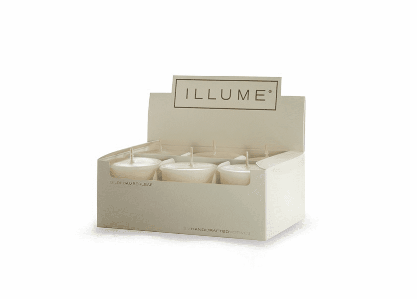 _DISCONTINUED - Gilded Amberleaf 6-Pack Votive Illume Candle