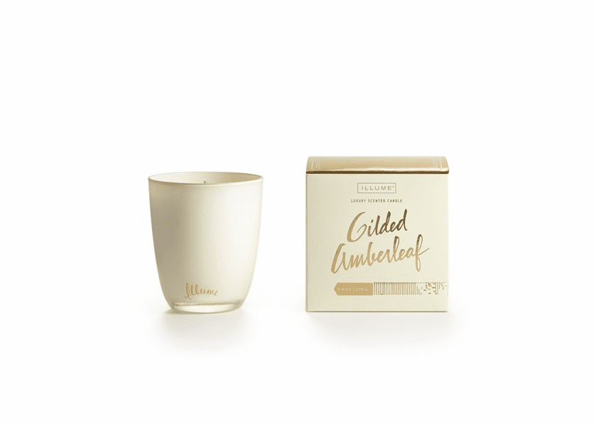 _DISCONTINUED - Gilded Amberleaf Boxed Glass Illume Candle
