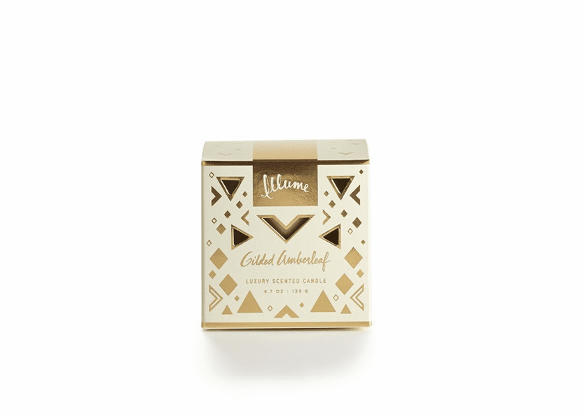 _DISCONTINUED - Gilded Amberleaf Demi Boxed Glass Illume Candle