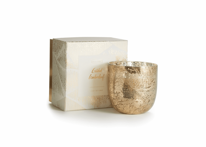 _DISCONTINUED - Gilded Amberleaf Luxe Sanded Mercury Glass Illume Candle