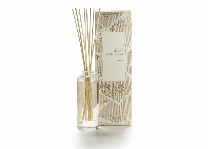 _DISCONTINUED - Gilded Amberleaf Reed Diffuser Illume Candle