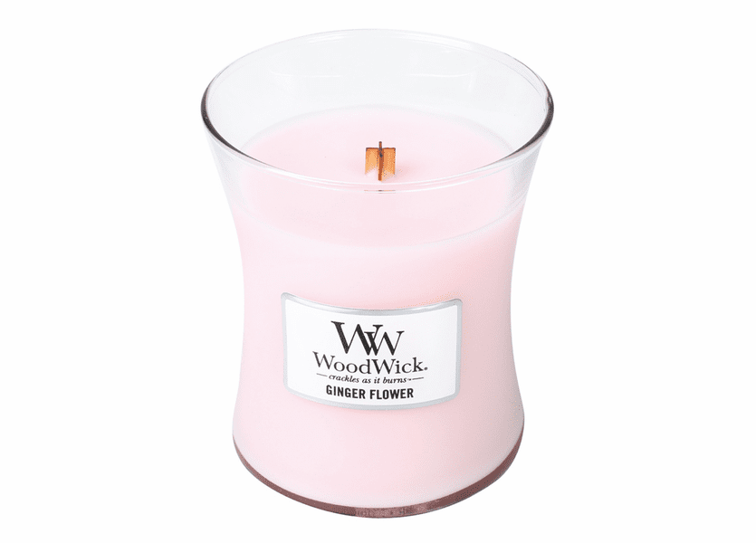 _DISCONTINUED - Ginger Flower WoodWick Candle 10 oz.