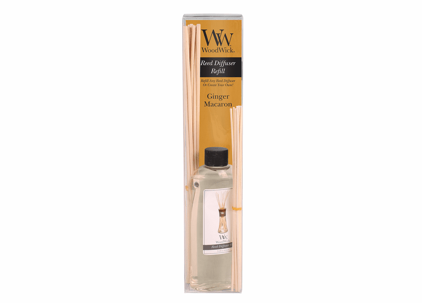 _DISCONTINUED - Ginger Macaron WoodWick 7.4 oz. Reed Diffuser REFILL