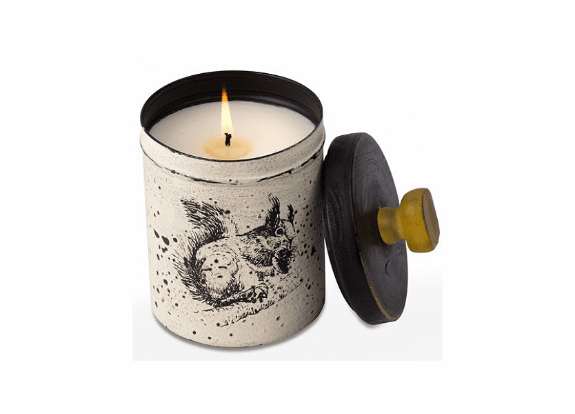 _DISCONTINUED - Ginger Patchouli 18 oz. Kitchen Squirrel Tin Candle by Himalayan Candles