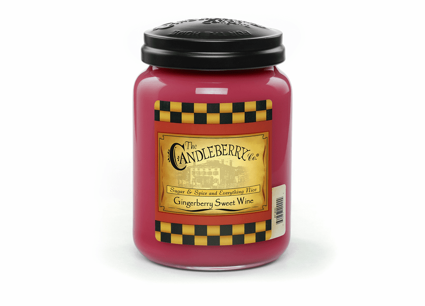 _DISCONTINUED - Gingerberry Sweet Wine 26 oz Large Jar Candleberry Candle