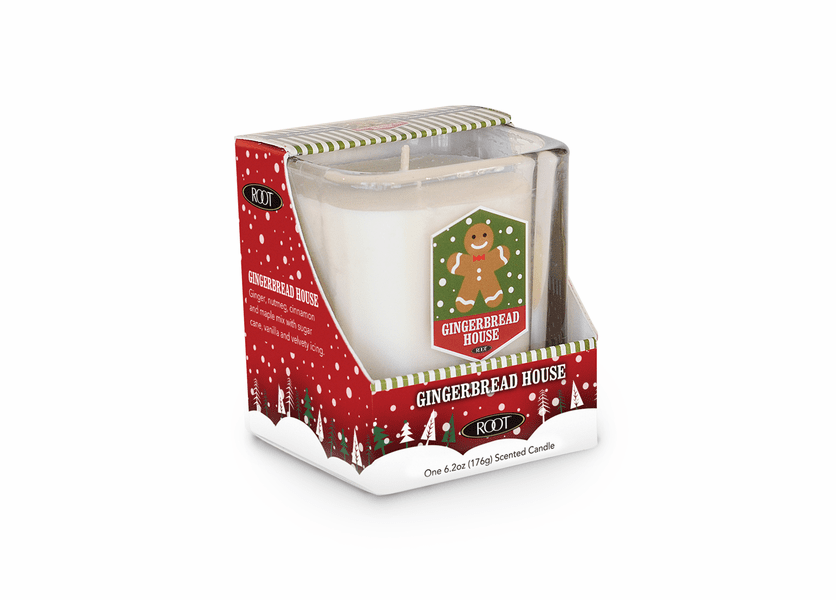 _DISCONTINUED - Gingerbread House 6.2 oz. Holiday Glass Tumbler by Root