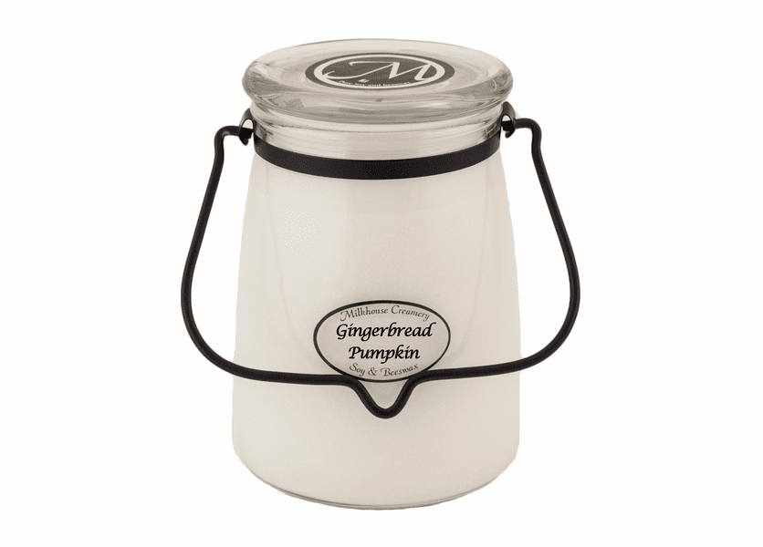 _DISCONTINUED - Gingerbread Pumpkin 22 oz. Butter Jar Candle by Milkhouse Candle Creamery