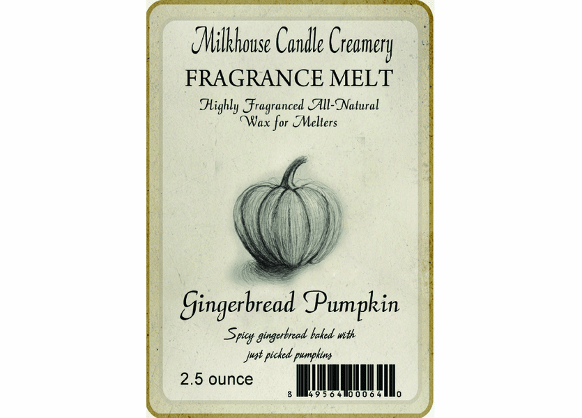 _DISCONTINUED - Gingerbread Pumpkin Fragrance Melt by Milkhouse Candle Creamery