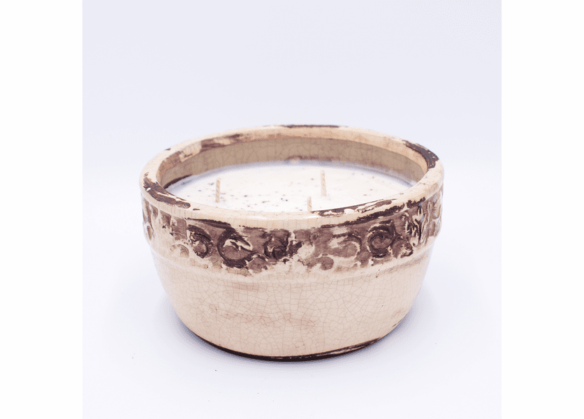_DISCONTINUED - Gingerbread Vintage Pottery Round Bowl Swan Creek Candle