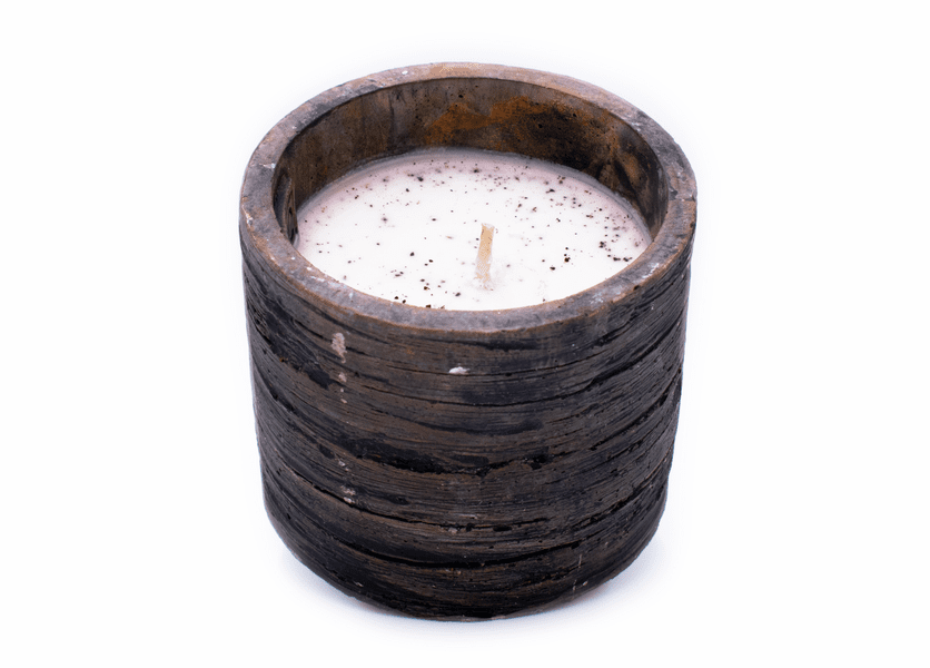 _DISCONTINUED - Gingerbread Weathered Wood Pottery Small Round Pot Swan Creek Candle