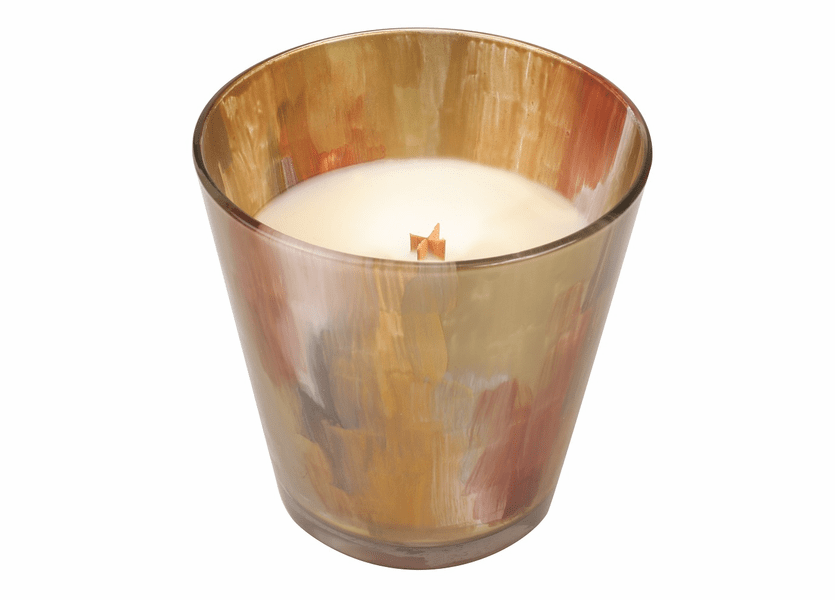 _DISCONTINUED - *Gold Spun Sugar Holiday Gold Watercolor Glass WoodWick Candle