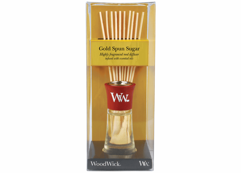 _DISCONTINUED - Gold Spun Sugar WoodWick 2 oz. Reed Diffuser
