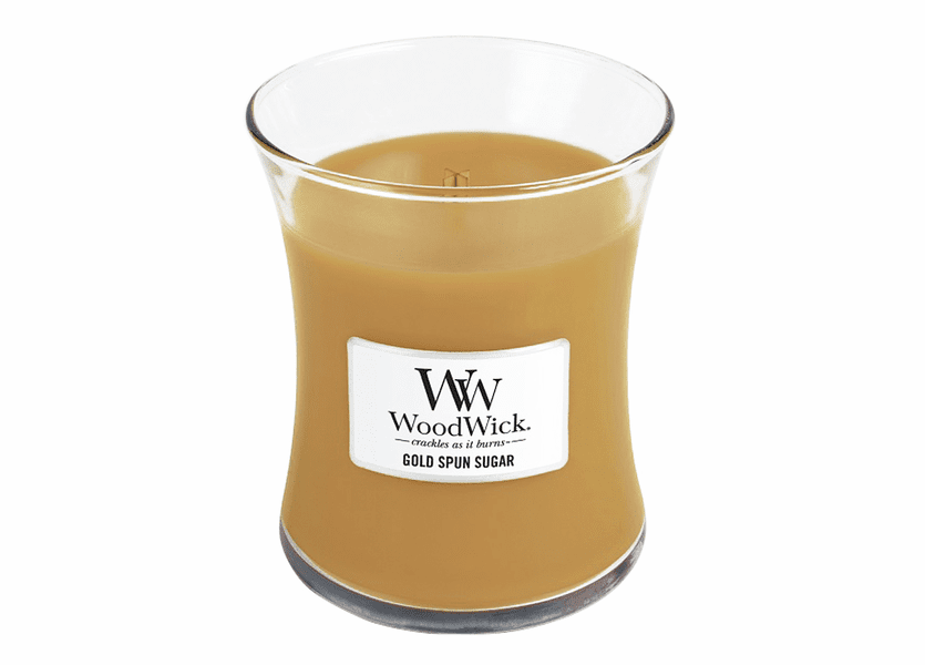 _DISCONTINUED - Gold Spun Sugar WoodWick Candle 10 oz.