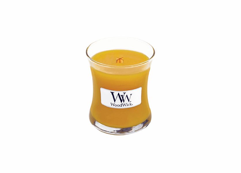 _DISCONTINUED - Gold Spun Sugar WoodWick Candle 3.4 oz.