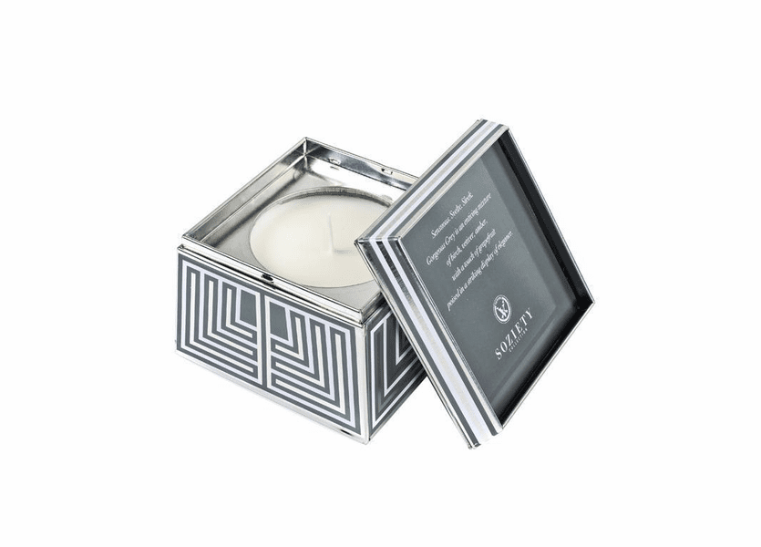 _DISCONTINUED - Gorgeous Grey Soziety Trapezoid Tin Votivo Candle