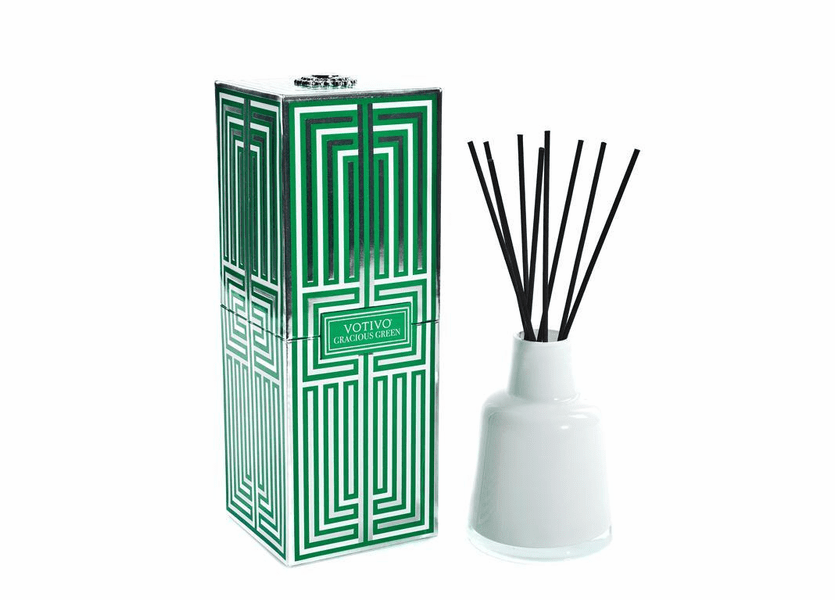 _DISCONTINUED - Gracious Green Soziety Reed Diffuser Votivo Candle
