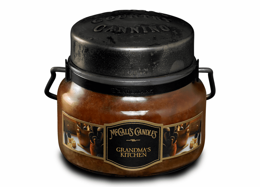 _DISCONTINUED - Grandma's Kitchen 8 oz. McCall's Double Wick Classic Jar Candle