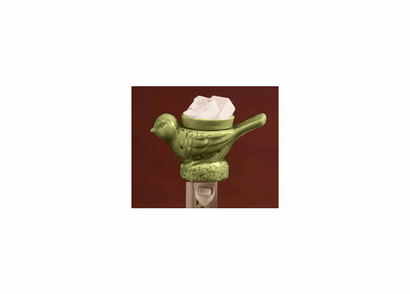 _DISCONTINUED - Green Bird Pottery Wall Plug-In Swan Creek Candle