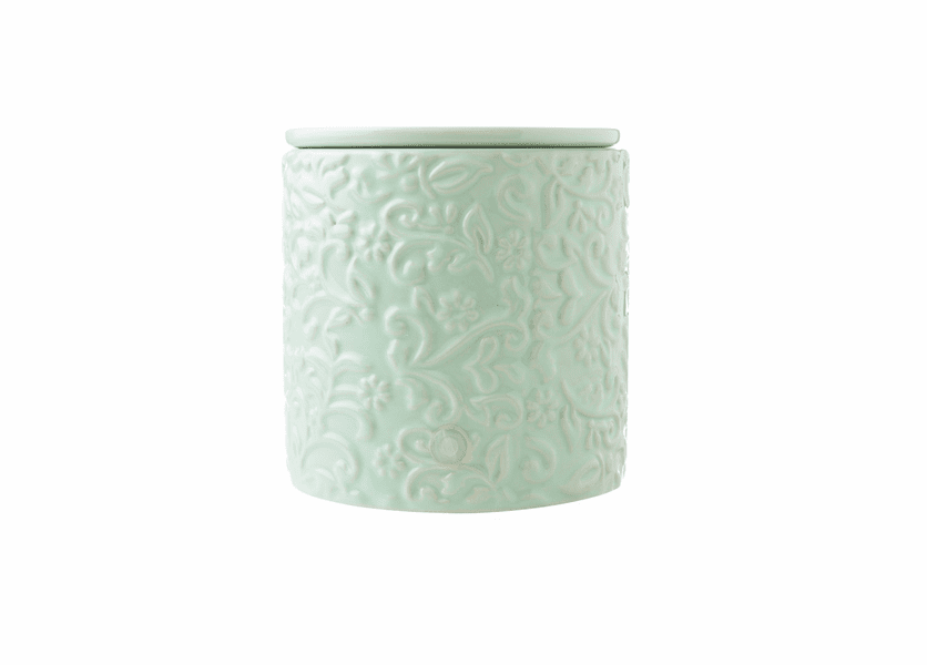 _DISCONTINUED - Green Floral Electric Warmer Colonial Candle