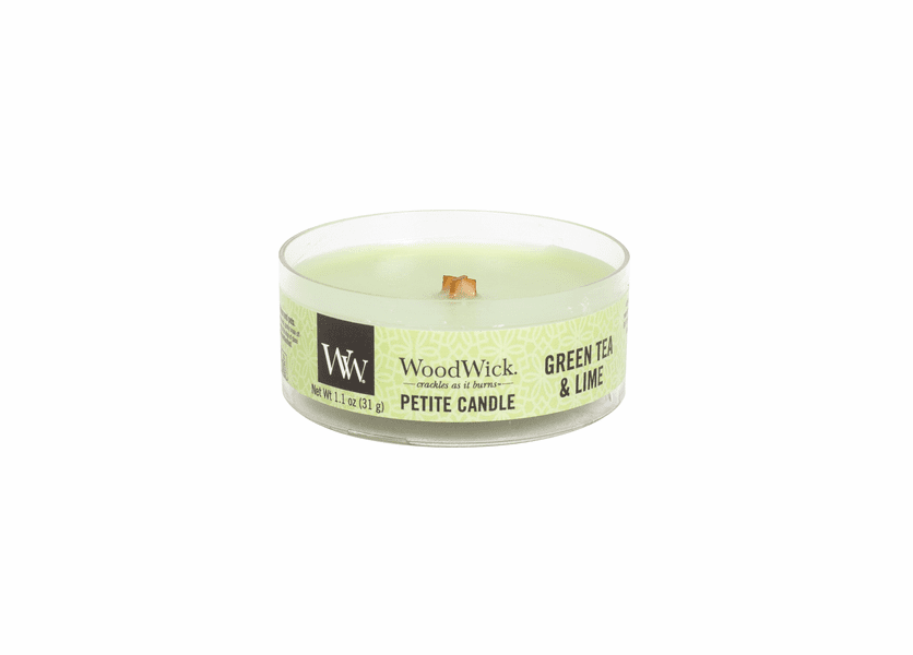 _DISCONTINUED - Green Tea & Lime Petite WoodWick Candle