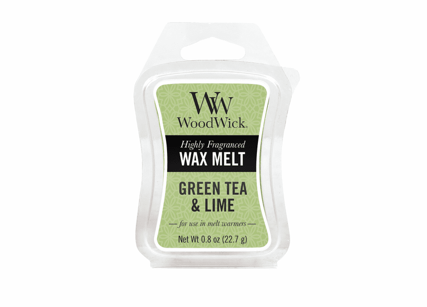 _DISCONTINUED - Green Tea & Lime WoodWick 0.8 oz. Mini Hourglass Wax Melt