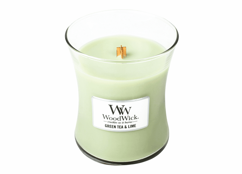 _DISCONTINUED - Green Tea & Lime WoodWick Candle 10 oz.