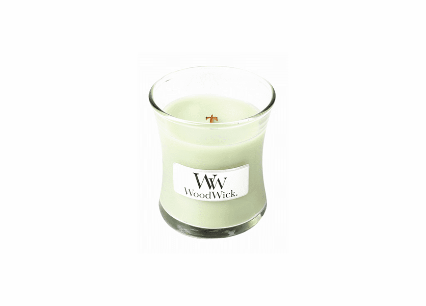 _DISCONTINUED - Green Tea & Lime WoodWick Candle 3.4 oz.