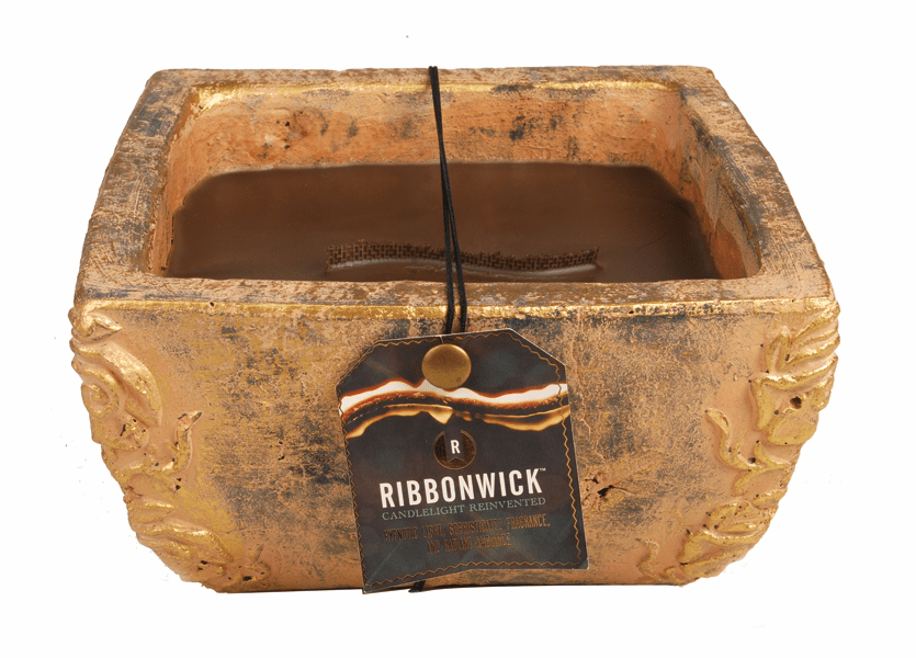 _DISCONTINUED - Greenhouse Garden Stone Large Premium RibbonWick Candle