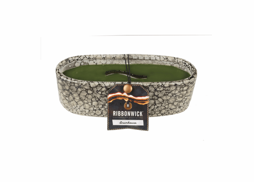 _DISCONTINUED - Greenhouse RibbonWick Medium Oval Pebble Stone Candle