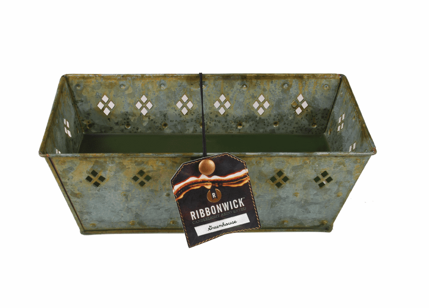 _DISCONTINUED - Greenhouse RibbonWick Verdegris Large Rectangle Tin Candle