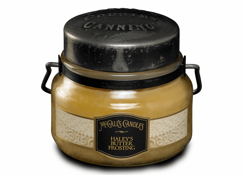 _DISCONTINUED - Haley's Butter Frosting 8 oz. McCall's Double Wick Classic Jar Candle