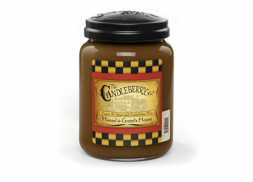 _DISCONTINUED - Hansel & Gretel's House 26 oz. Large Jar Candleberry Candle