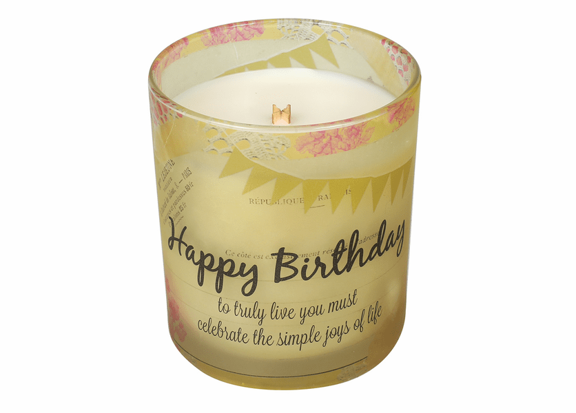 _DISCONTINUED - Happy Birthday Inspirational Collection 10 oz. Jar WoodWick Candle