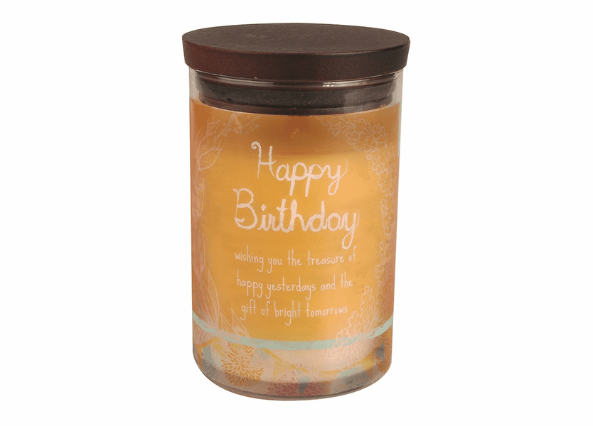 _DISCONTINUED - Happy Birthday WoodWick Inspirational Collection Candle - 9.5 oz.