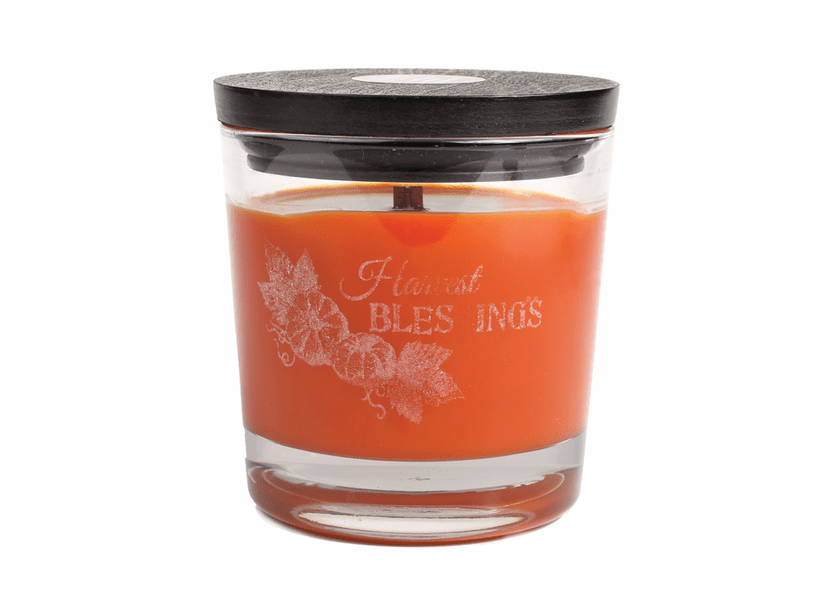 _DISCONTINUED - *Harvest Blessings WoodWick Laser Etched Medium Candle