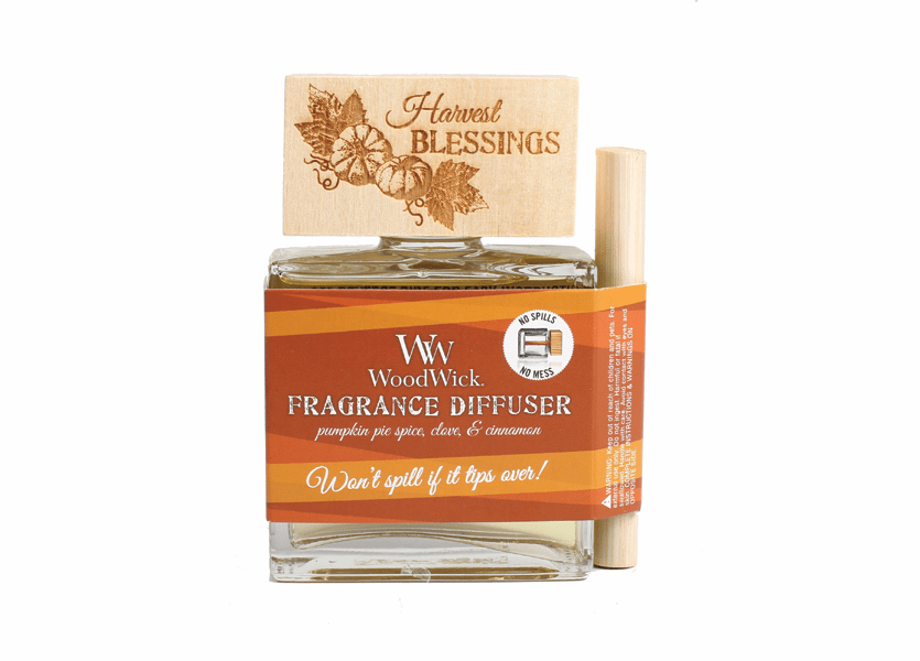 _DISCONTINUED - *Harvest Blessings WoodWick Laser Etched Spill-Proof Diffuser