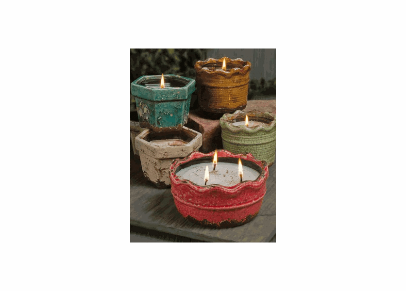_DISCONTINUED - Harvest Spice Ruffled Edge Pot (Color: Olive)