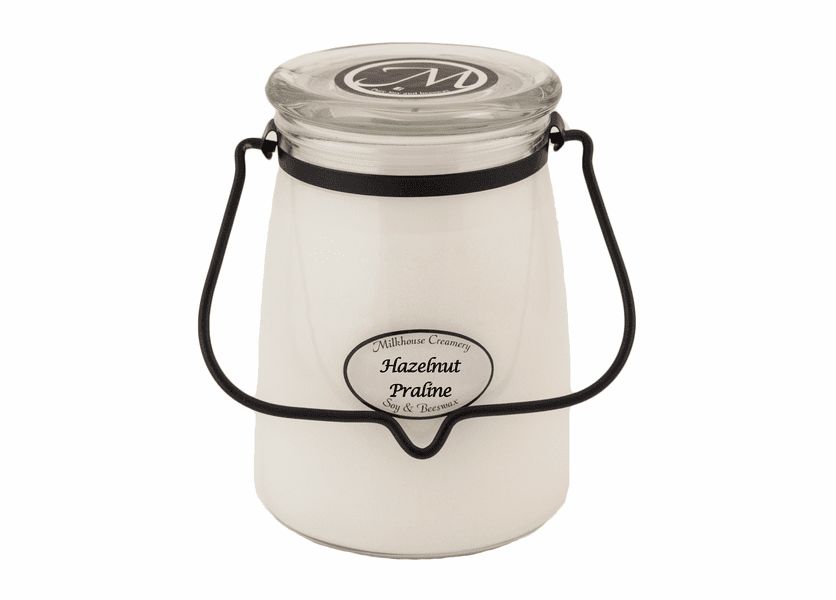 _DISCONTINUED - Hazelnut Praline 22 oz. Butter Jar Candle by Milkhouse Candle Creamery