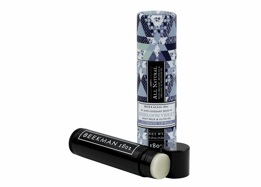 _DISCONTINUED - Heirloom Violet 0.15 oz. Lip Balm Stick by Beekman 1802