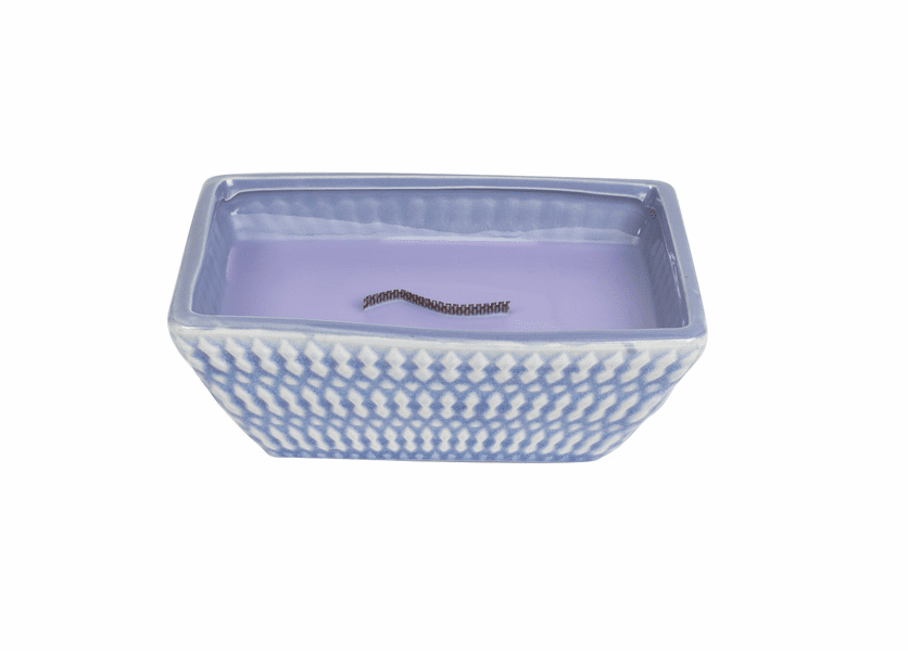 _DISCONTINUED - Herbal Lavender Quilted Rectangle Premium RibbonWick Candle
