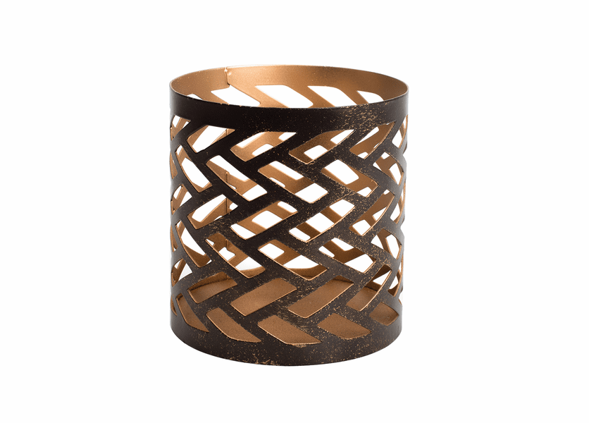 _DISCONTINUED -  Herringbone Petite Holder WoodWick Candle