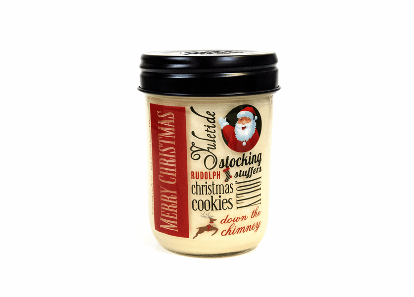 _DISCONTINUED - Holiday Citrus & Clove 12 oz. Holiday Vintage Jar Candle (Label: Merry Christmas)
