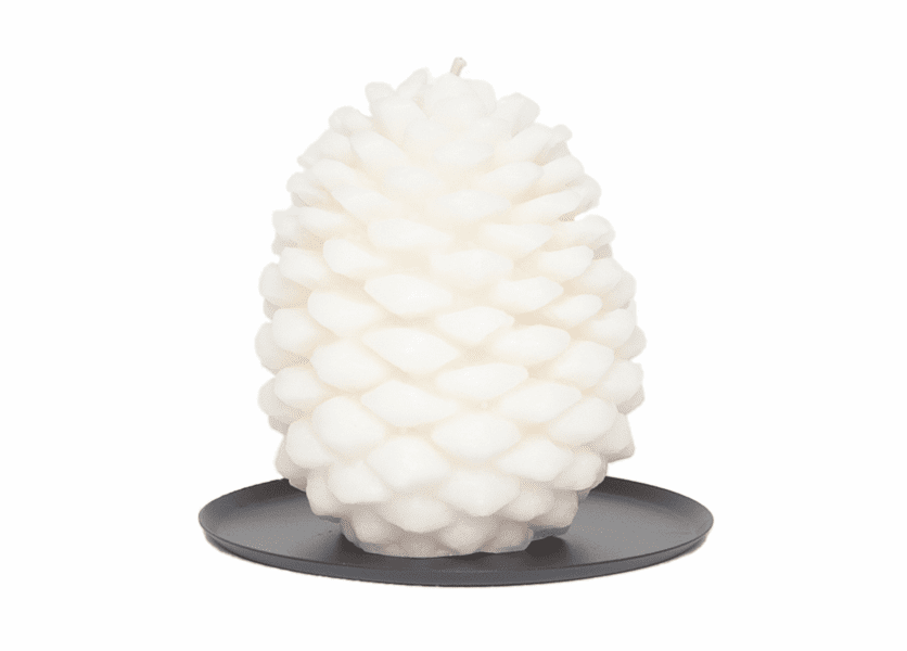 _DISCONTINUED - Holiday Magic Tin Roof Pinecone Candle by Aspen Bay Candles