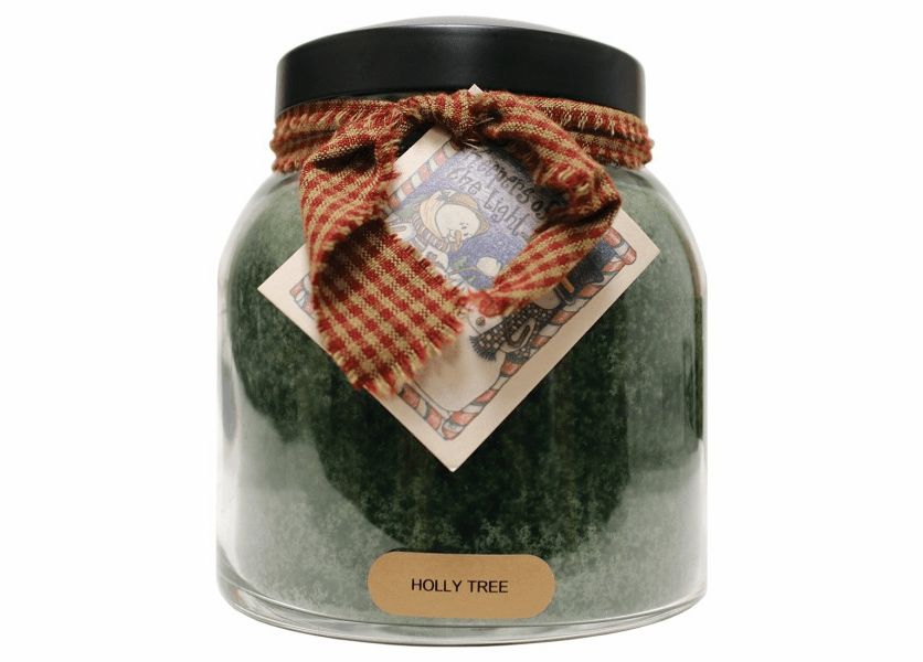 _DISCONTINUED - Holly Tree 34 oz. Papa Jar Keepers of the Light Candle by A Cheerful Giver