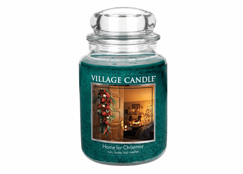 _DISCONTINUED - *Home for Christmas 26 oz. Premium Round by Village Candles