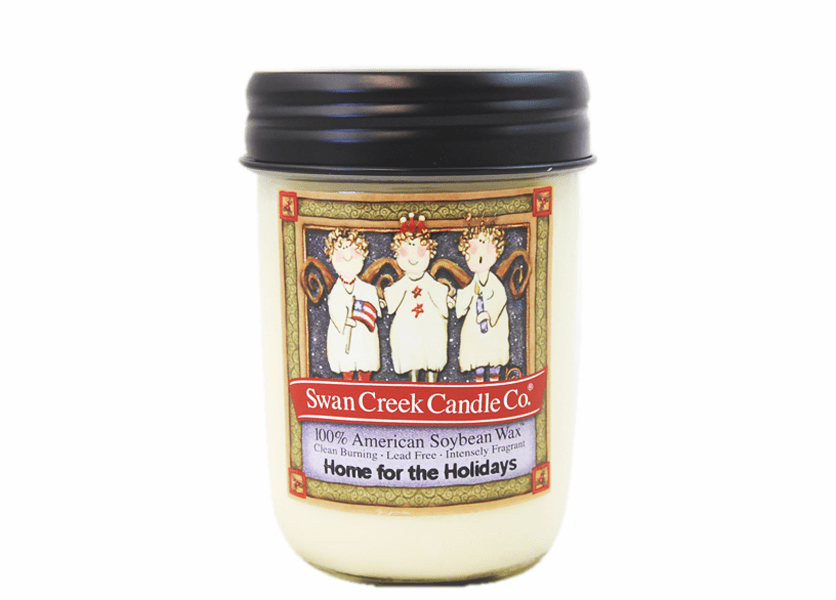 _DISCONTINUED - *Home for the Holidays 12 oz. Holiday Vintage Jar Candle (Label: Angel)